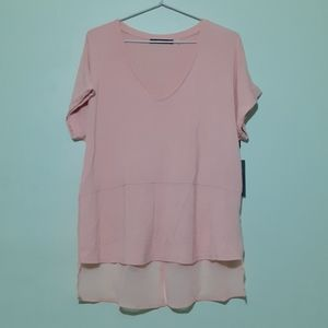 ROSE PINK BLOUSE TOP new with tags L